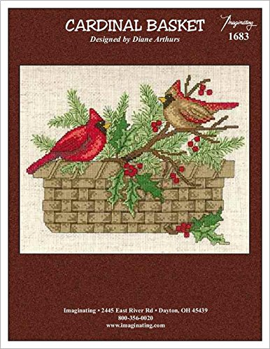 Cardinal Basket (Model 1683) Cross Stitch Kit and Free Embellishment (Cardinal Basket)