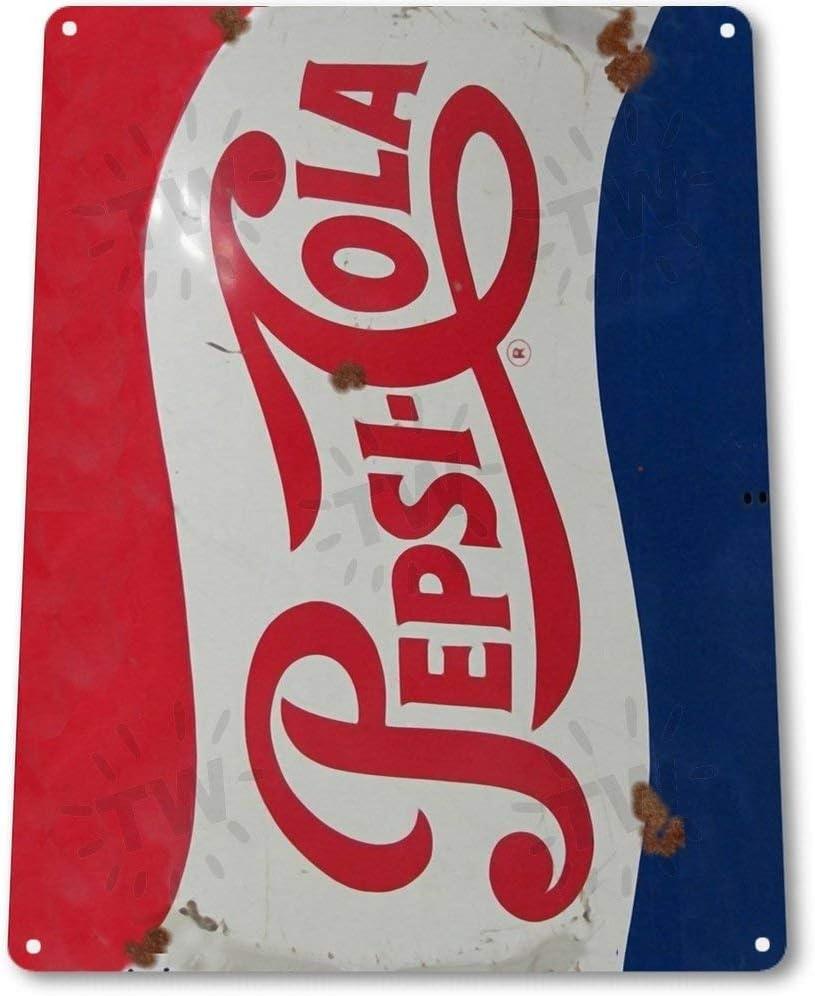 SIGNCHAT Blechschild Pepsi Cola Retro Metall Dekoration Wandkunst Soda Store Shop A563 Blechschild 20,3 x 30,5 cm