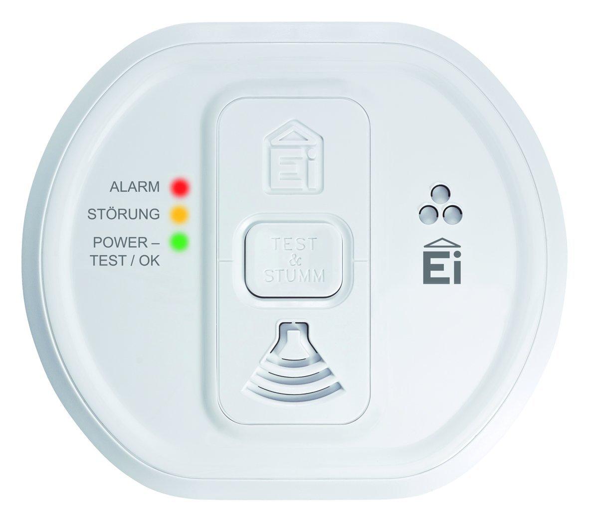 Ei Electronics Ei 207 Kohlenmonoxidwarnmelder (fü r Wohnung, Camping und Boot, 7 Jahre Produktlebensdauer) weiß , 1 Stü ck Ei Electronics (Non-Consi) Ei 207EN