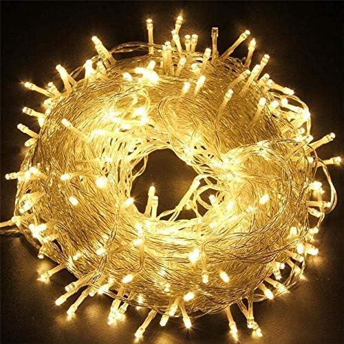 No brand Led Lichterkette 220 Volt Draht Wasserdichte Kranz Urlaub Beleuchtung Für Fairy Tree Party Dekoration 20 Mt 200 LEDs 220 V EU Warmweiß