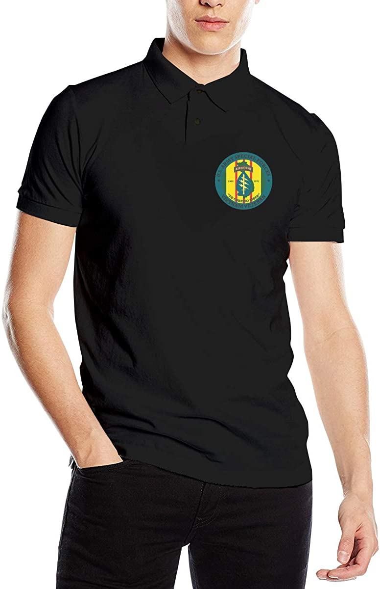 Ynqkakqopols Special Forces Vietnam Veteran Shirt Mens Polo Shirts