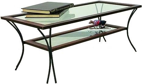 Tavolo Vetro Ferro Battuto.Spazio Casa Tavolino Da Salotto In Legno Con Piedi In Ferro