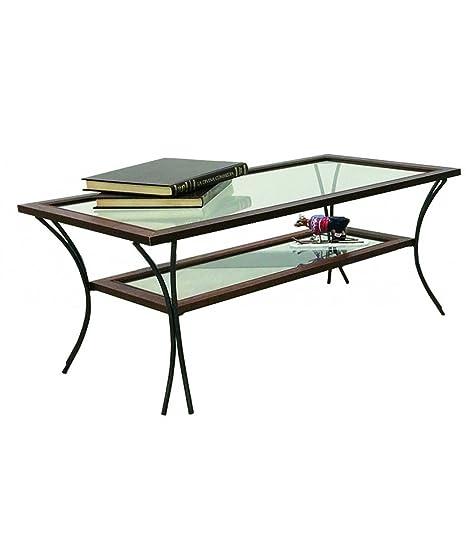Tavolino Salotto Ferro Battuto.Spazio Casa Tavolino Da Salotto In Legno Con Piedi In Ferro