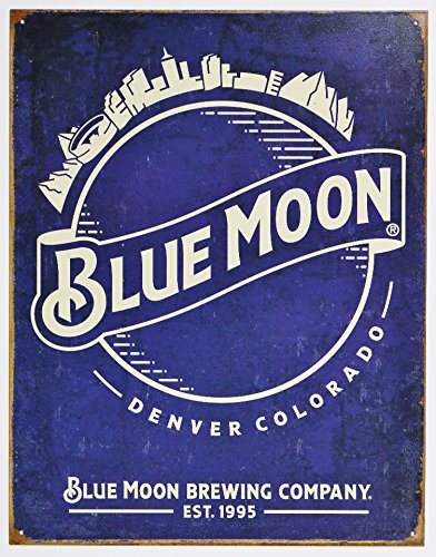 Blue Moon Beer Skyline Metal Tin Vintage  Retro Tin Sign  12 5 X 16 Inches By Desperate Ent  In Usa