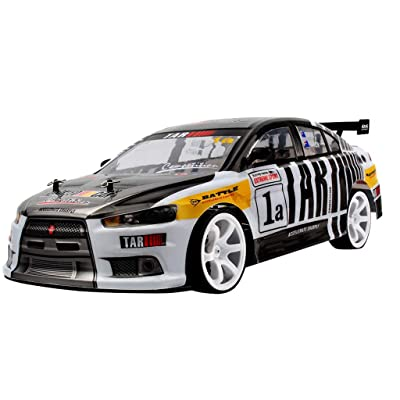 High Speed Drift Racing Sports Car,Zhaowei 1:10 70km/h 2.4G 4WD Double Battery High Power LED Headlight RC Car (Black): Toys & Games