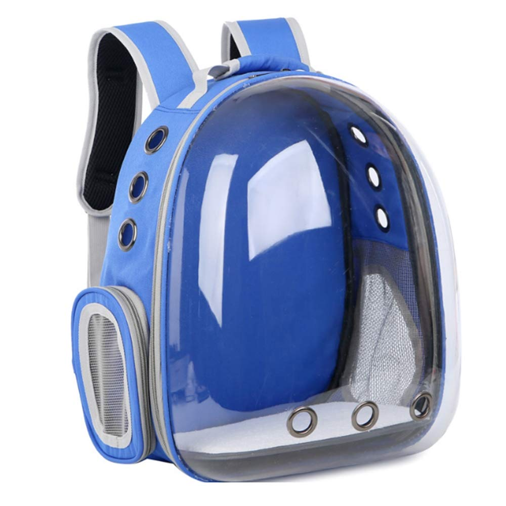 bluee Transparent Pet New Space Capsule Portable Pet Backpack Carrier Bubble Cat Puppy Waterproof HandbagSafe and Breathable Travel Backpack
