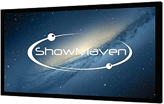ShowMaven 100in /120in Fixed Frame Projector Screen