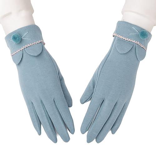 Mujer Otoño E Invierno Algodón Dedos Dedos Unidad Pantalla Táctil Guantes Moda Coreano