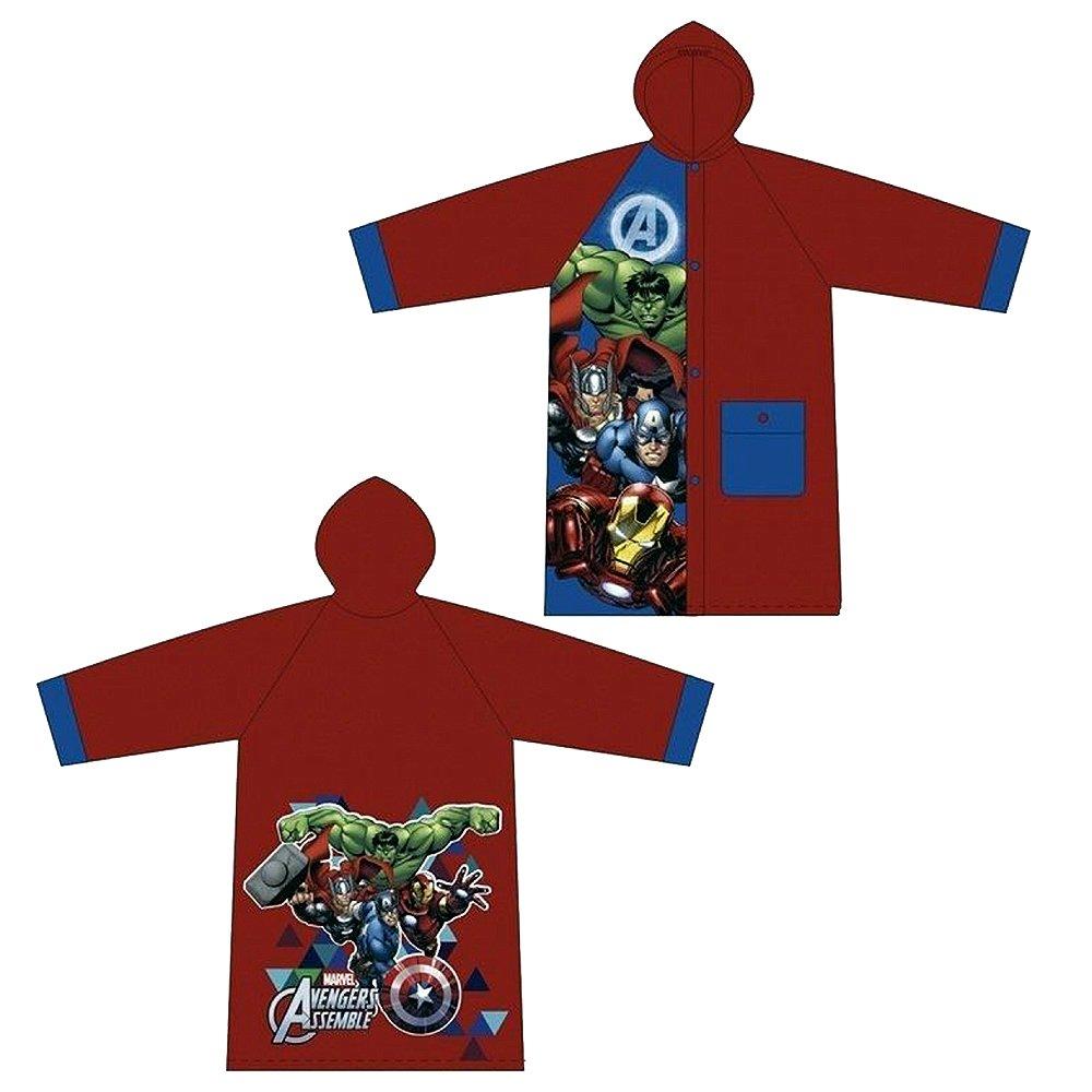 Avengers Raincoat School Children Cartoon Waterproof Hooded Rain Coat Jacket Poncho Raincoat DISNEY