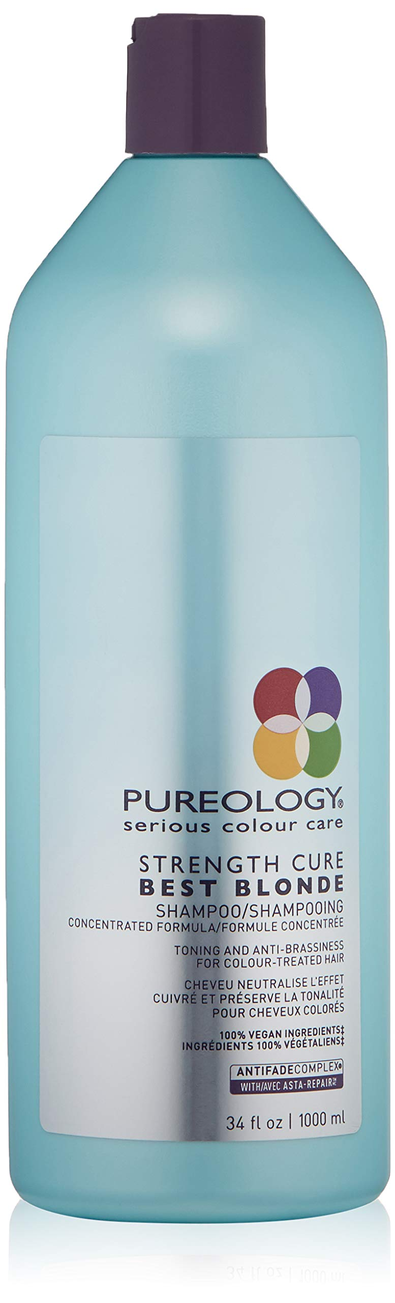 Pureology Strength Cure Best Blonde Purple Shampoo, 33.8 Fl Oz