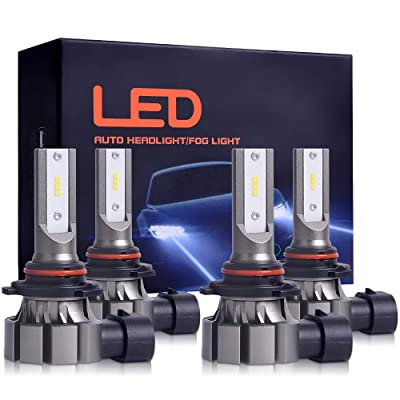 Sampino 9006 9005/hb3LED Headlight Bulbs Headlights All-in-One nversion Kit (2 Sets) 12000LM 6000K 12xCSP Chips Cool White: Automotive