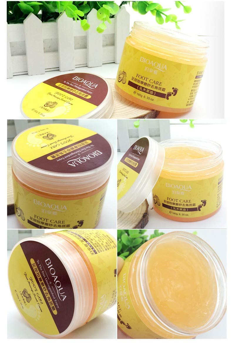Shea Butter Foot Cream Chinese Herbal foot scrub massage Cream Exfoliating Feet Cream Feet Care Dead Skin Removal Smooth by HandmadeTHshop