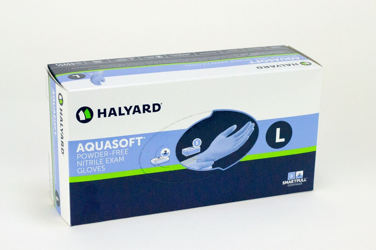 Aquasoft Nitrile Exam Gloves Pf By Halyard Health (Formerly Kimberly Clark)