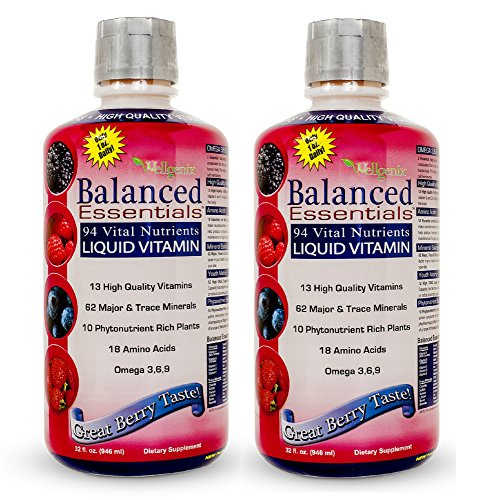 - Balanced Essentials 2 Pack Natural Liquid Nutritional Supplement Vitamin 32 Ounces Very Berry S-BE32