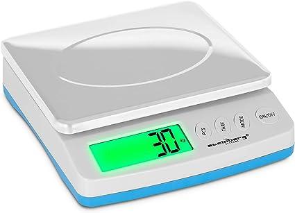 Plataforma De 235 x 197 mm, kg//g//oz//lb//tl//c, Precisi/ón De 1 g, Rango De Pesaje: 5-30 kg Steinberg B/áscula Para Paqueter/ía Digital Balanza SBS-PT-30000