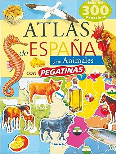 Atlas De España Y Sus Animales Atlas De Animales Con Pegatina ...
