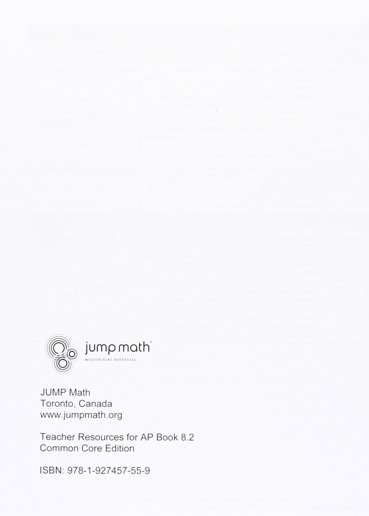 Amazon.com: JUMP Math CC Teacher Resource 8.2: Common Core Edition  (9781927457559): John Mighton: Books