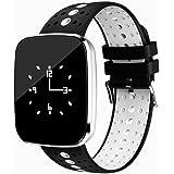 Fitness Tracker mit Herzfrequenz, TKSTAR Touchscreen IOS & Android Smart Watch Bluetooth Wasserdicht Schwimmen Smart Uhr Fitness Armband Uhr JUV6