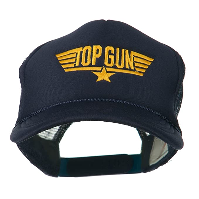 640c63122474a Amazon.com  Youth Top Gun Embroidered Foam Mesh Cap - Navy OSFM ...
