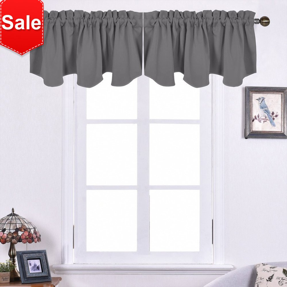 shop brown valance scenic selections in rod polyester pd style inch woodland pocket