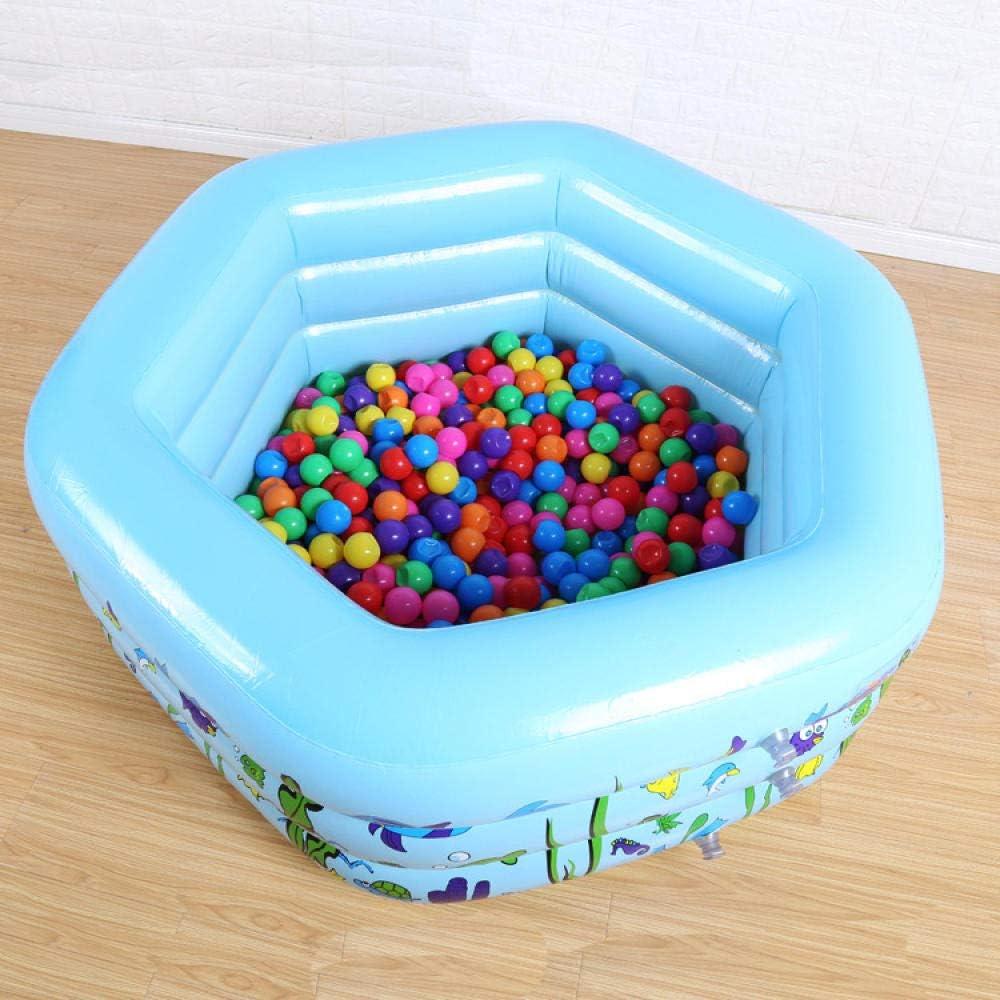 Protección del Medio Ambiente PVC Piscina Inflable niños 6 Esquina Familia Baby Shower 130 * 130 * 50 Familia Inflable Rectangular: Amazon.es: Jardín