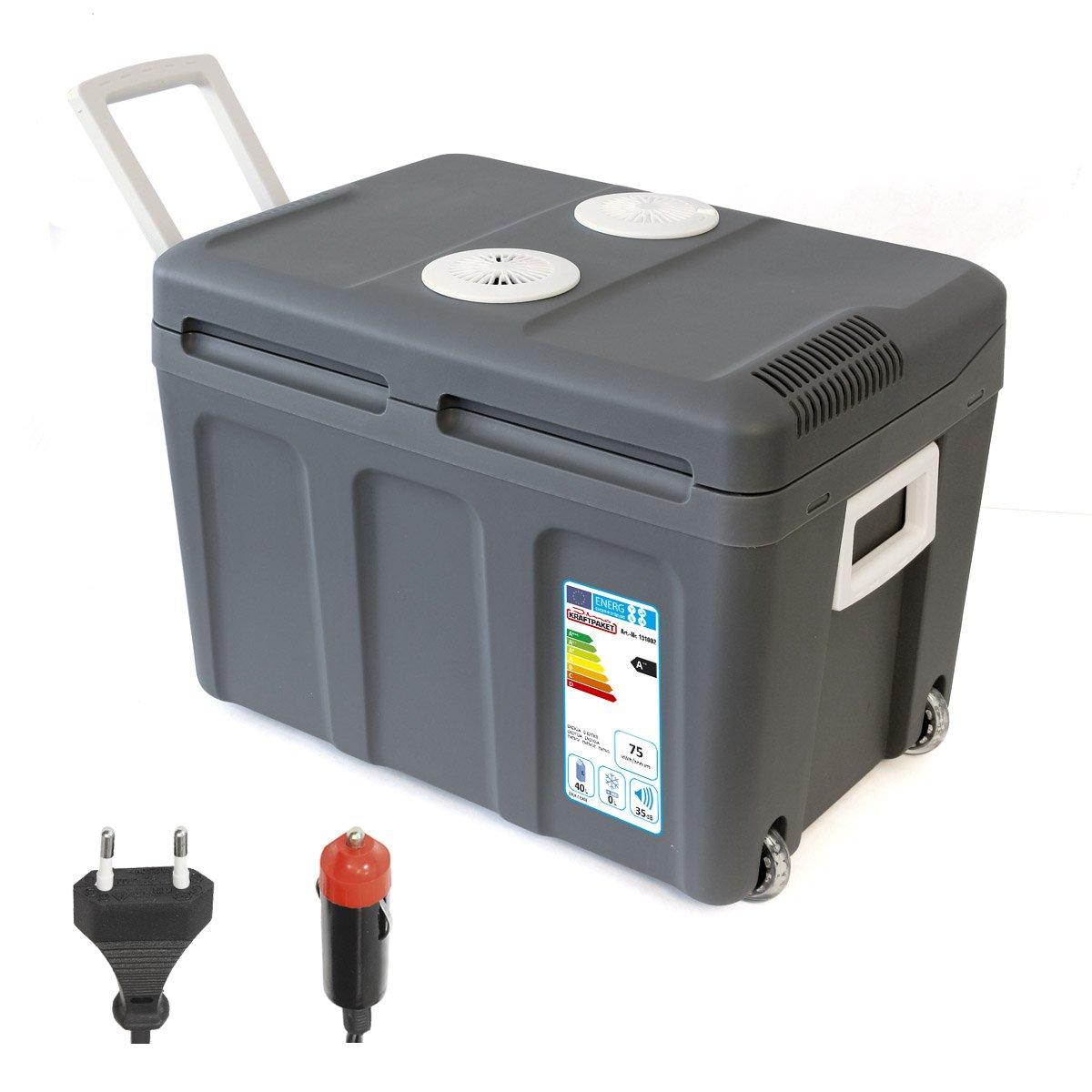 Dino KRAFTPAKET 131002 Kü hlbox 12V 230V (WÄ RMT & KÜ HLT) HÖ HE: 42cm GRÖ SSE: 45-Liter (40L netto) Elektrische Kü hlbox fü r Auto Boot Camping, A++ mit ECO-Modus [Energieklasse A++] r.d.i. Deutschland GmbH