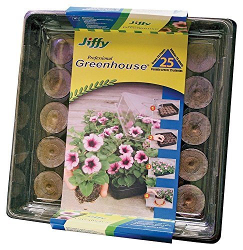 Jiffy-7, All In One Greenhouse, 25 Peat Pellets