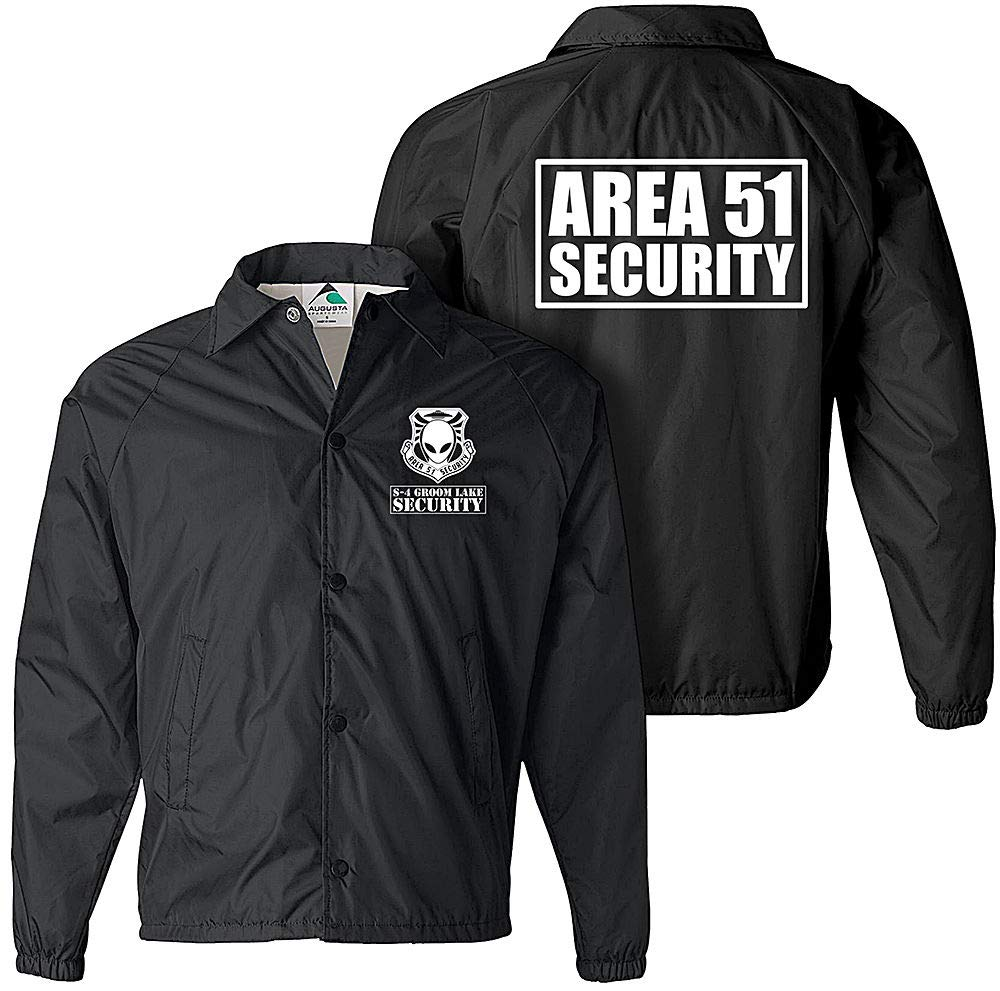 Area 51 Jacket, Area 51 Security Jacket, Extraterrestrial, Alien, UFO Jacket, ET Navy by Smart People Clothing