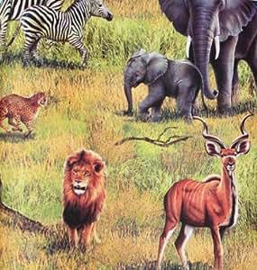Rasch papel pintado Kids Club 264500 Zoo Safari de animales de África