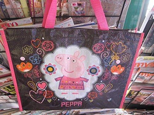 Peppa Pig bolso grande del totalizador del hombro del bolso del bolso 42x33x16cm grande