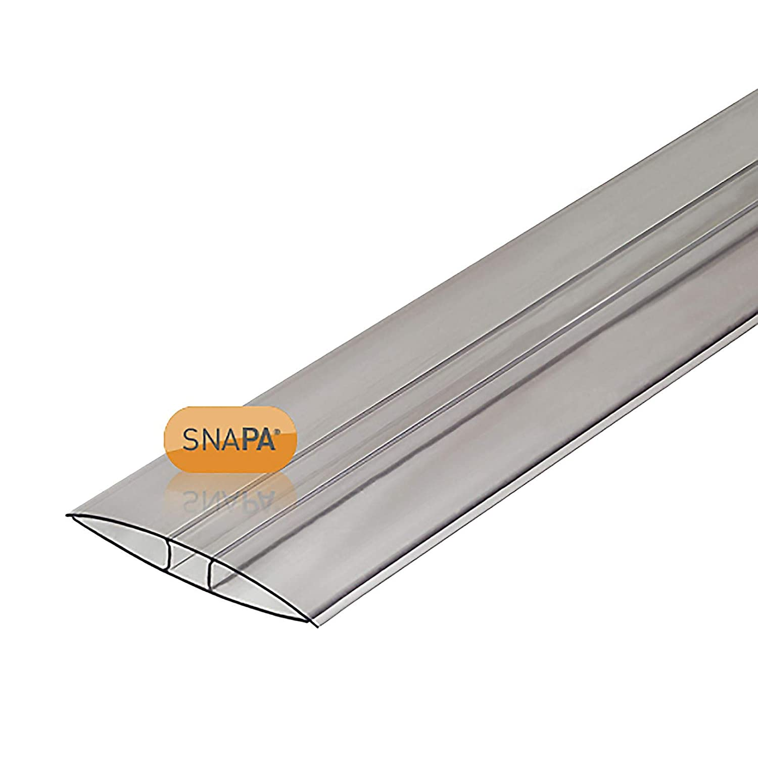 16mm Clear H-Section Joining Strip uPVC Plastic Muntin for Multiwall Polycarbonate Sheets 4m