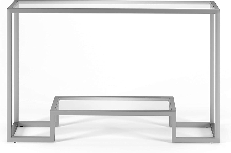 Black Henn/&Hart Geometric Console Table