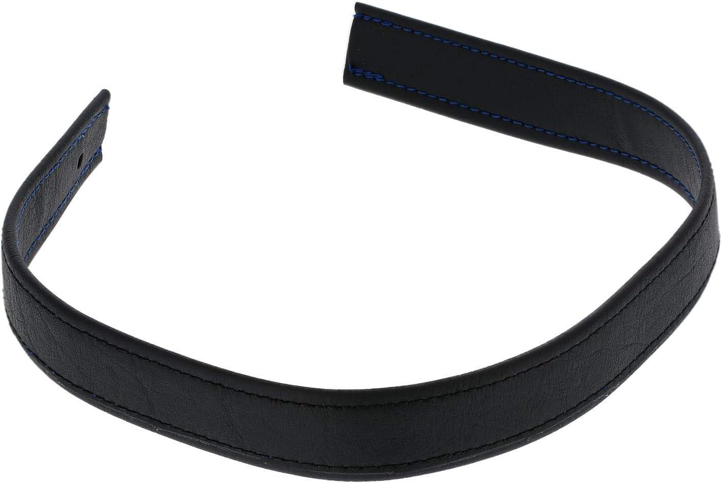 Handarbeit AKF Halteriemen f/ür Sitzbank schwarz mit Ziernaht in Blau