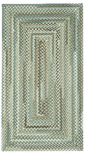 Concentric Rectangle Green Rug - Capel Rugs Sherwood Forest 2L x 3W ft. Rectangle Braided Area Rug - Green Olive