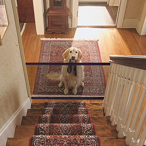Namsan Pet Saftey Gate – Magic Gate Pet Safety Enclosure Portable Folding Pet Isolation Net Safety Guard for Pets Dog…