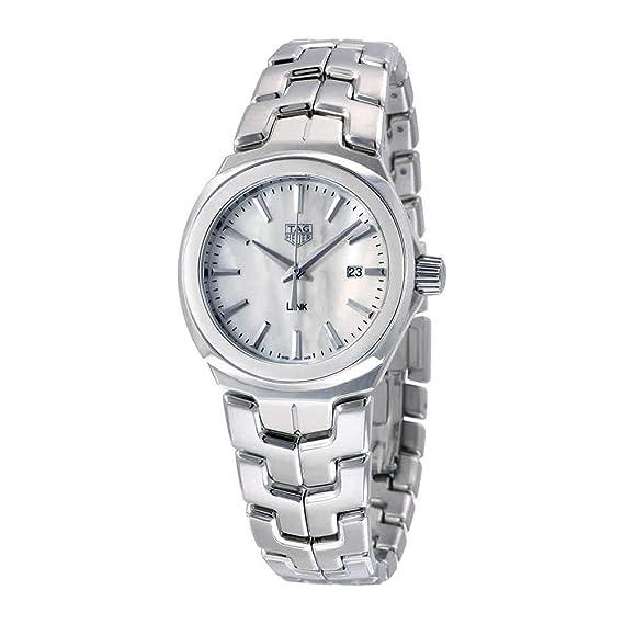 TAG Heuer Link Reloj de mujer cuarzo 32mm correa de acero WBC1310.BA0600: Amazon.es: Relojes