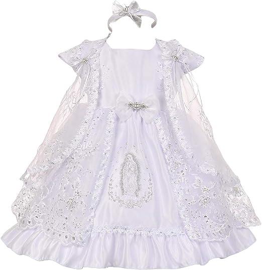Amazon.com: Gigis Classy - Vestido de bautismo para bebés y ...