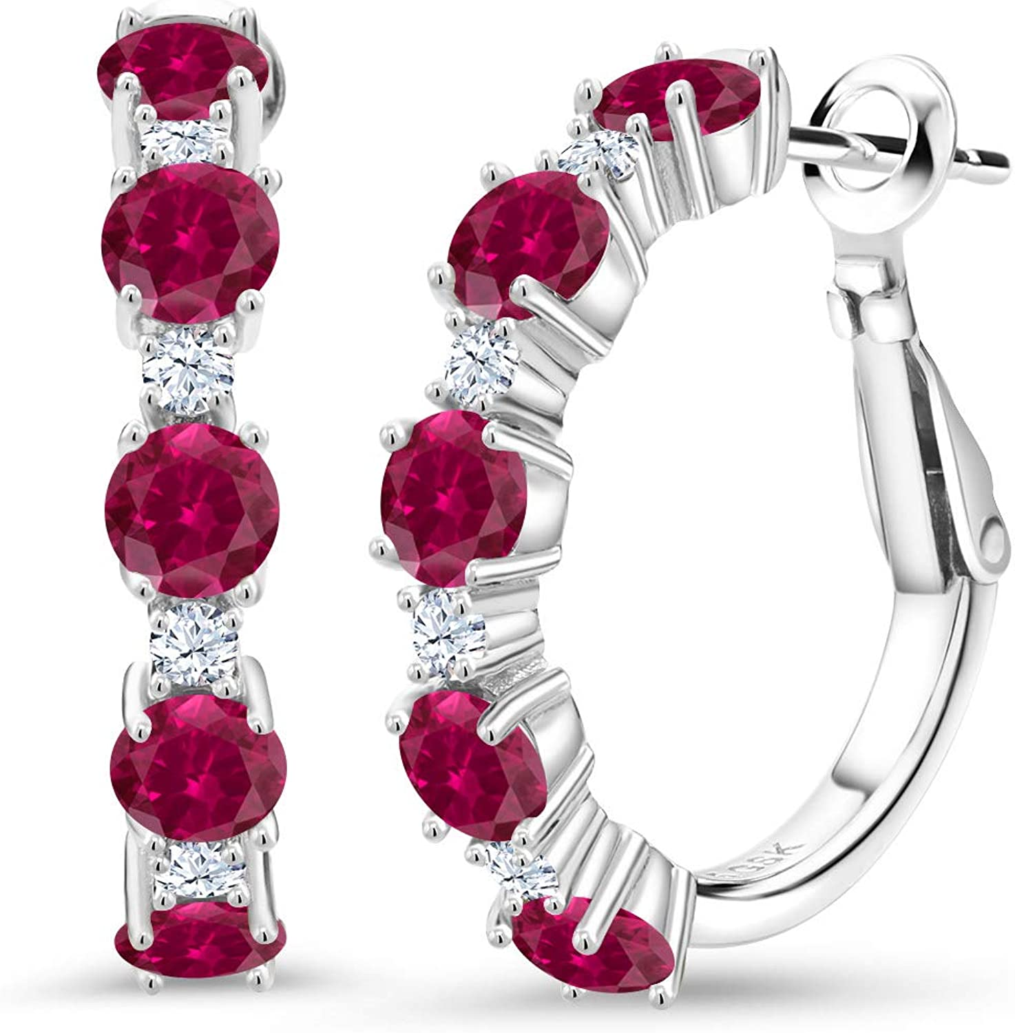 CZ Bracelet// Bangle Red Ruby Stunning Solid 925 Sterling Silver box