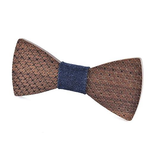 Corbata de lazo de madera para hombre Pajaritas de madera La ...