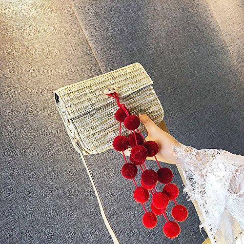 tracolla semplice femminile WSLMHH moda selvaggia a gialla estiva borsa rosso Messenger Borsa spalla piccola a Yw0twq