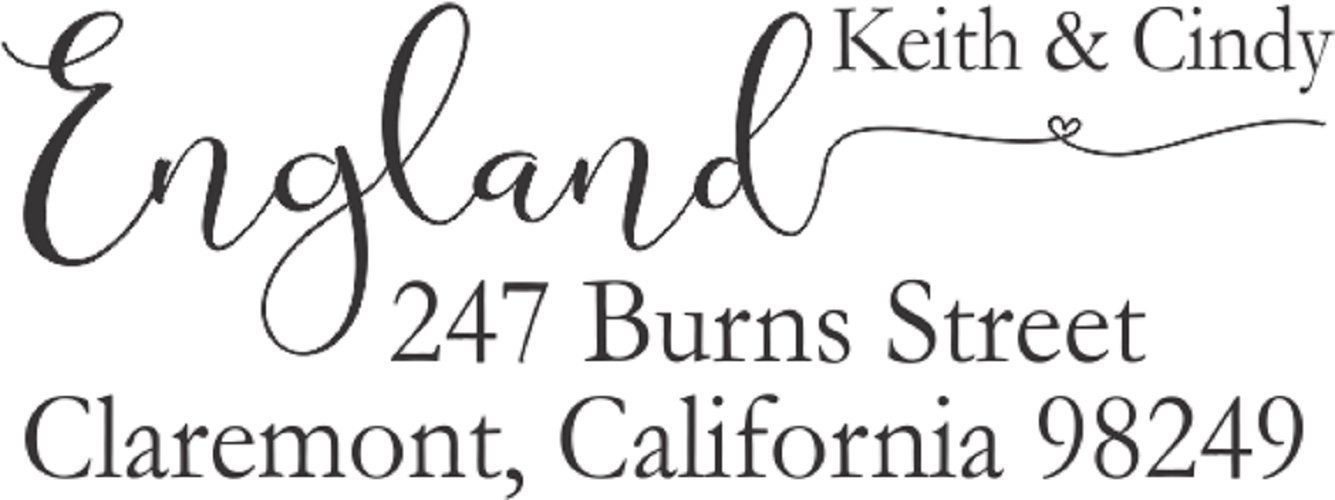 Elegant Return Address Stamp Self Inking