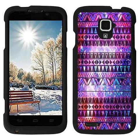 URAKKI Nebula Aztec Tribal Design Slim Fit Hard Case Phone Cover for ZTE Rapido 4G LTE Z932L (Zte Rapido Phone Cases)