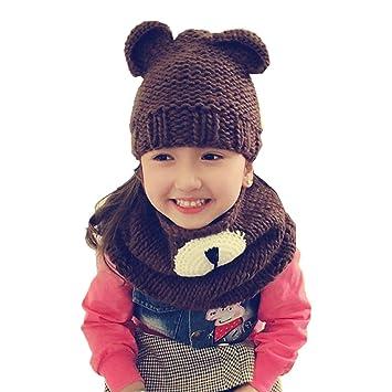 Unicorn Winter Hat Hooded Scarf Earflap Knitted Cap Xmas Gift Kids//Boy//Girl Hot