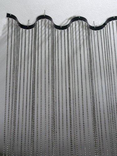 (2' wide x 8' Long Faux Metal Ball Steel Room)