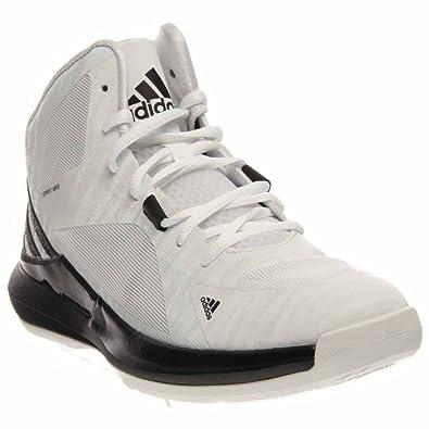 cheap for discount 88085 e2dac adidas New Men s Crazy Strike Basketball Shoes White Black 9.5