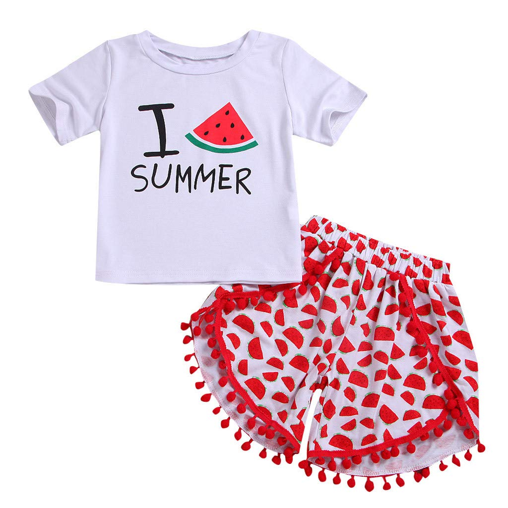 8057a5f4fba Galleon - 2Piece Toddler Infant Kids Baby Girl Summer Outfits Set ...