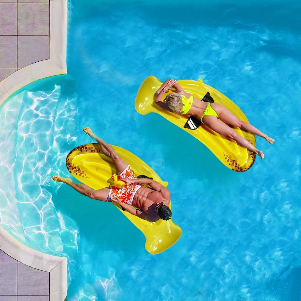 Baztoy Inflatable Pool Floats Swimming Floaty Ride-On Giant ...