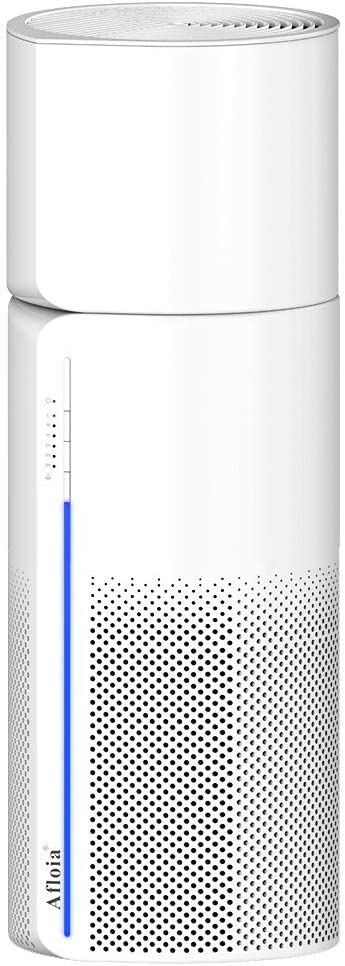 Afloia HEPA Air Purifier with Humidifier Function, 3 Stage Filters for Home Allergies Pets Hair Smoker Odors, Auto Shut Off, Quiet Air Cleaner with Night Light, MIRO PRO (Available for California)