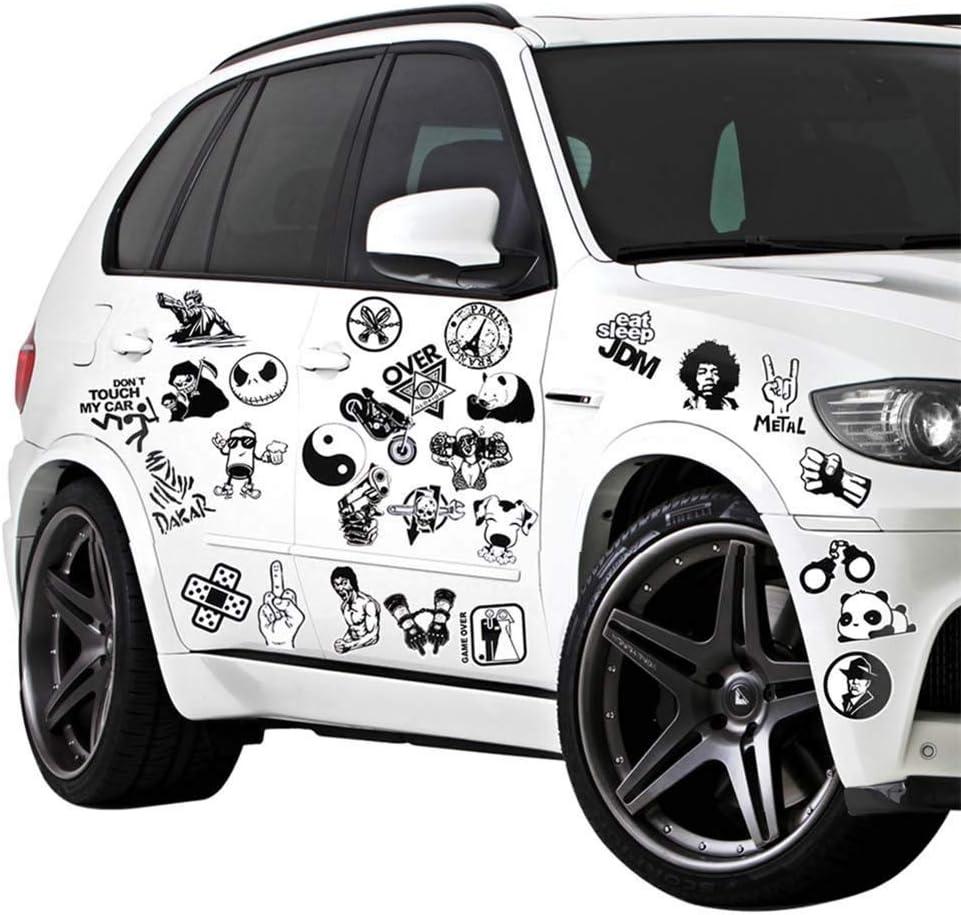 150 St/ück Schwarz Wei/ß Sticker Graffiti Vinyl Aufkleber f/ür Laptop Autos Motorrad /… Modou Aufkleber