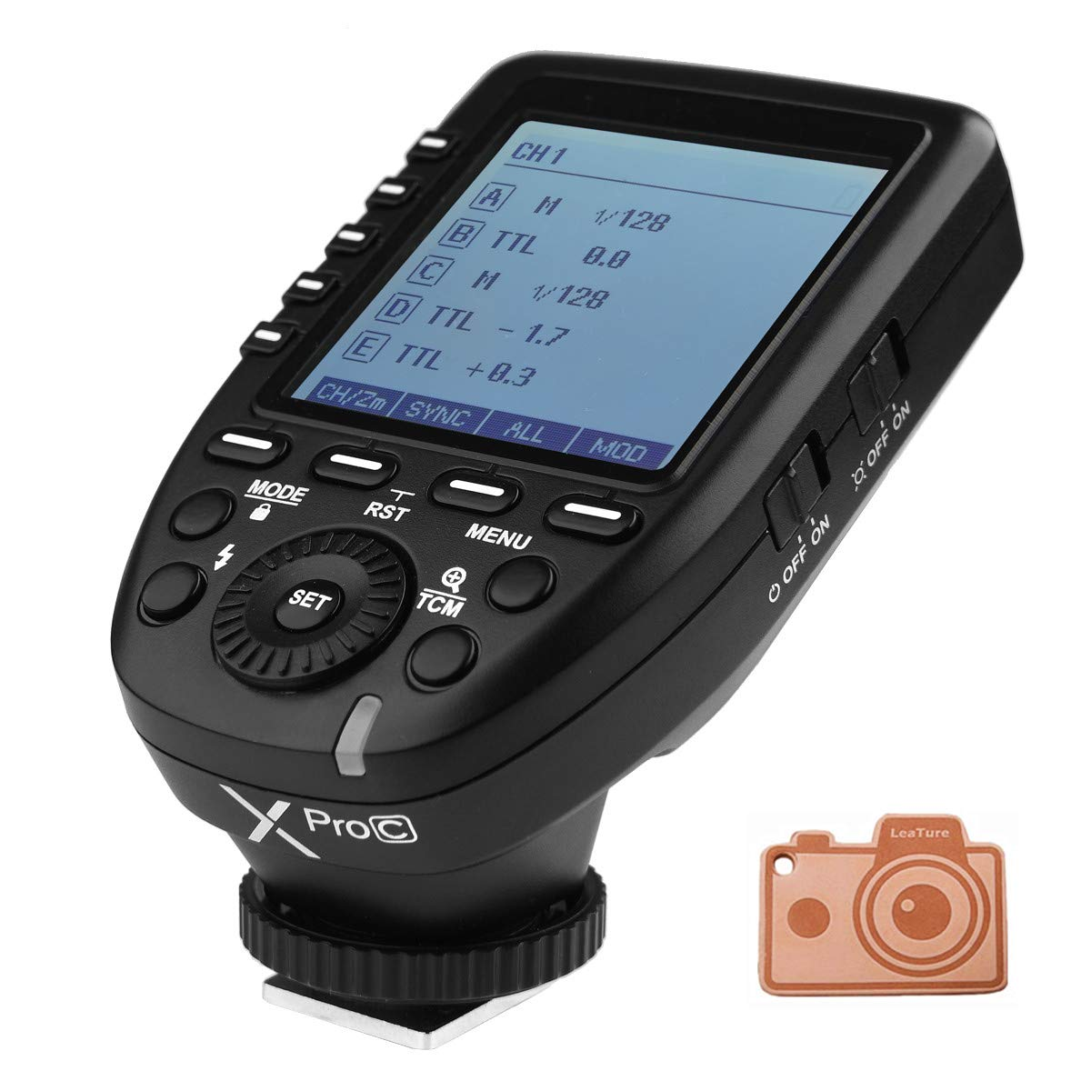 GODOX XPro-C E-TTL 2.4G Wireless High Speed Sync 1/8000s X System High-Speed Flash Trigger for Canon EOS Cameras by Godox